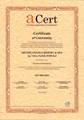 Certificate of Conformity - Design and Provision of Hotel Services